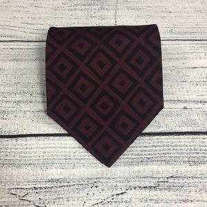 Giorgio Armani Cravatte Deep Red Geometric Tie